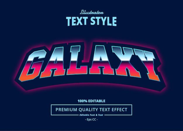 Galaxy text effect Premium Vector