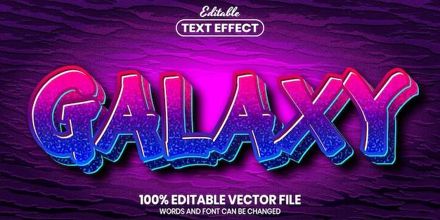 Galaxy text, font style editable text effect