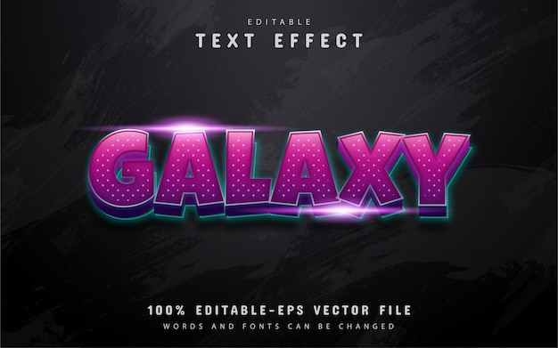 Galaxy text, purple gradient style text effect