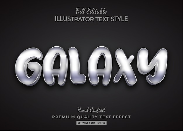 Galaxy text style effect premium