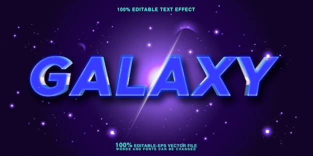Galaxy text style effect