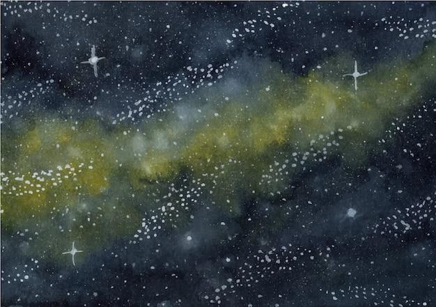 銀河の水彩画の背景