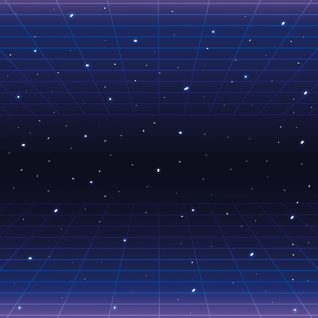 星と幾何学的なグラフィックスタイルの背景を持つ銀河