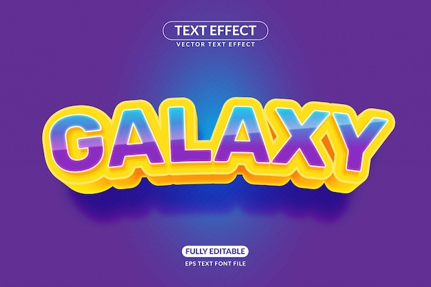 編集可能なgalaxyゲームのテキスト効果