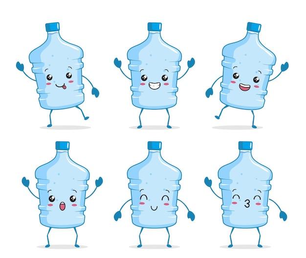 Галлонная бутылка воды каваи иллюстрации шаржа