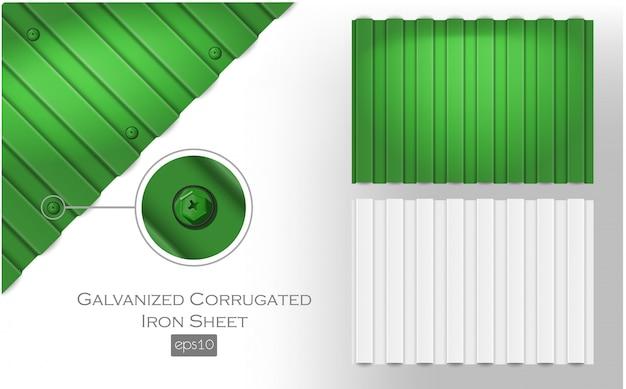 Оцинкованный волнистый лист. плиты металлочерепицы для покрытия или ограждения
