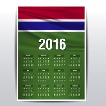 Il calendario del 2016 in gambia
