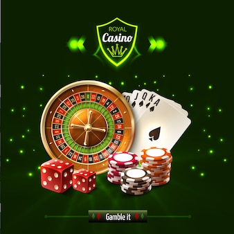Gamble it casino realistic composition