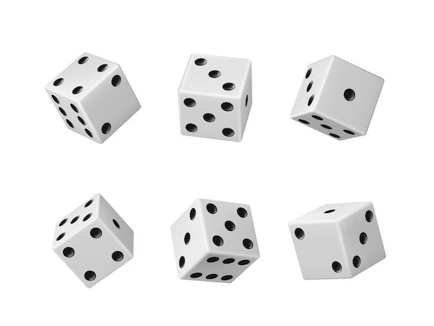 Gambling game dice realistic casino craps