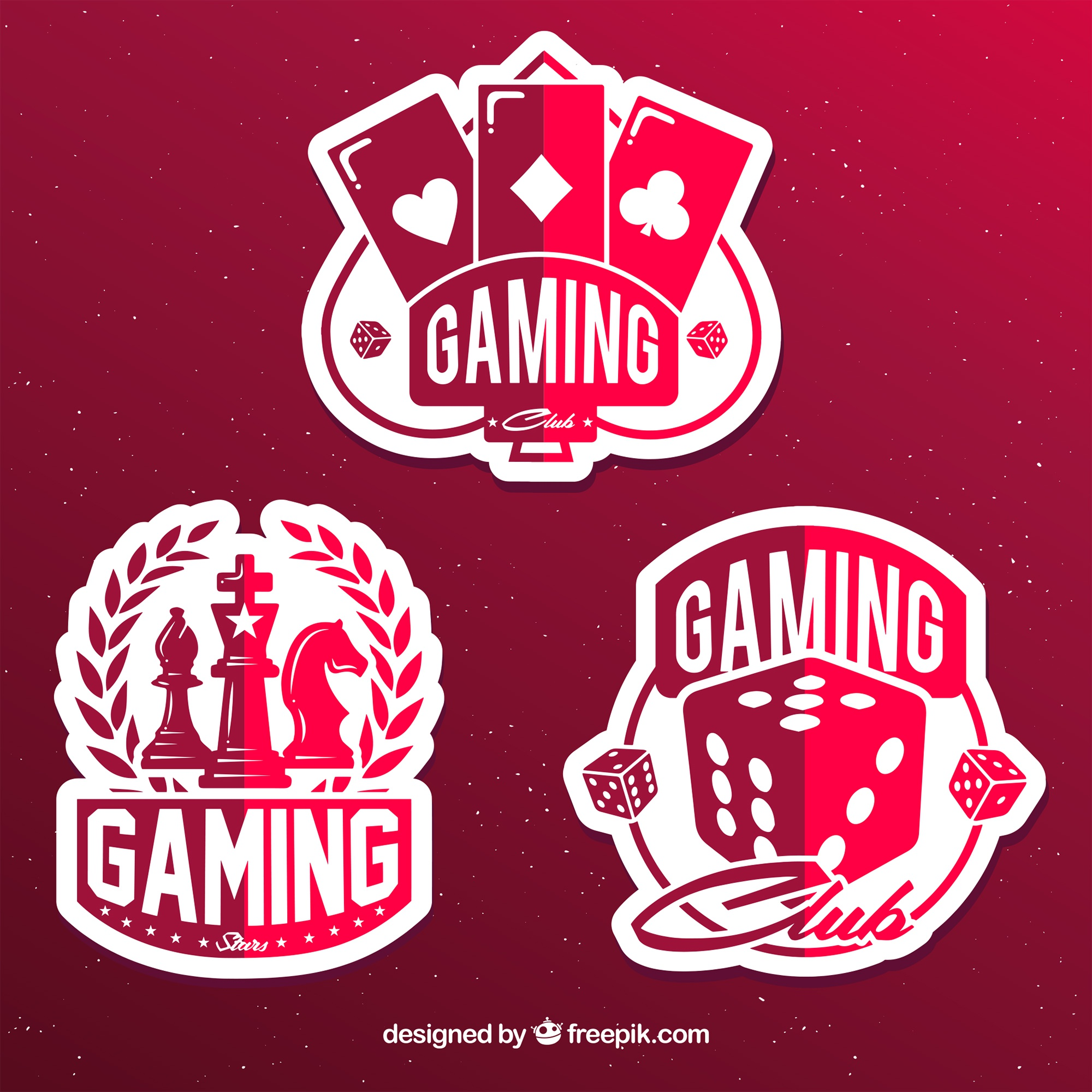 Gambling icon collection with flat design