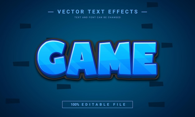 Game 3d editable  text effect
