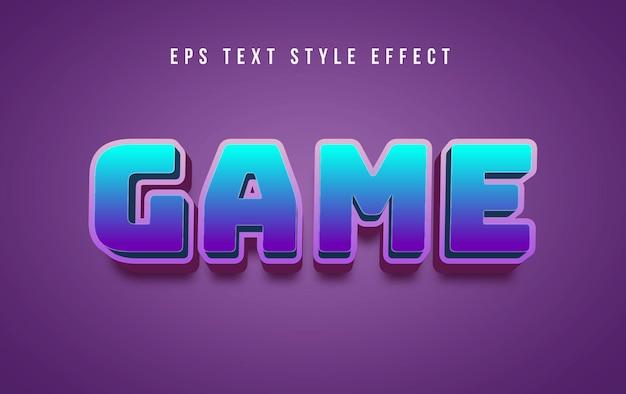 Игра 3d футуристический редактируемый эффект стиля текста