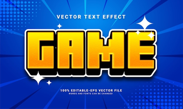 Game 3d text effect, editable text style and suitable for game assets