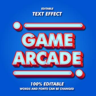 ゲームアーケードのテキスト効果