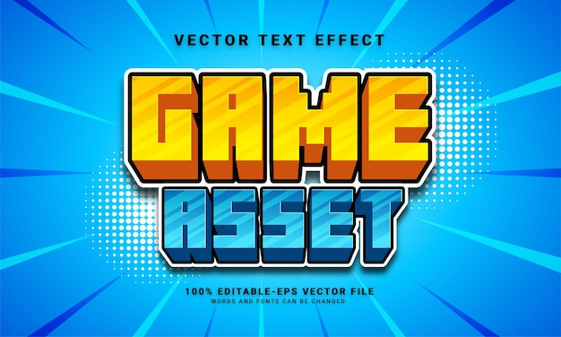 Game asset 3d text effect, editable text style and suitable for game assets