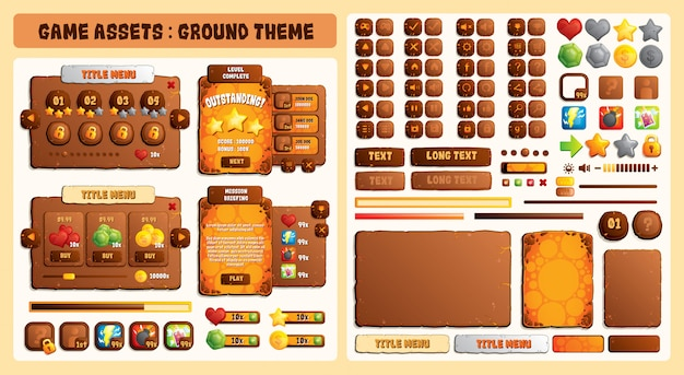 Game assets ground theme