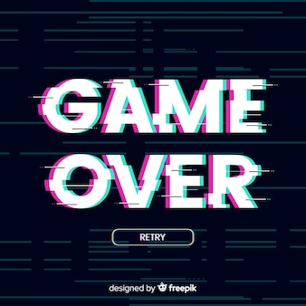 Game over background
