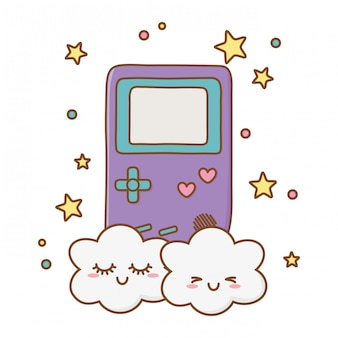 Game boy and clouds