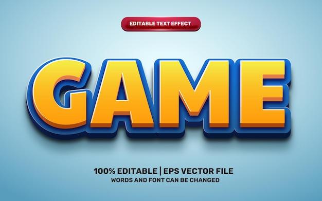 Game cartoon comic hero funny kids 3d editable text effect