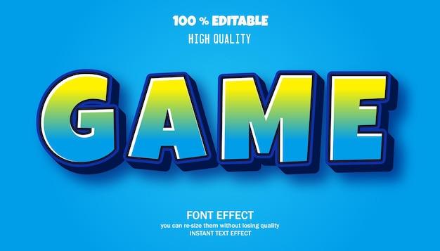 Game cartoon style editable text
