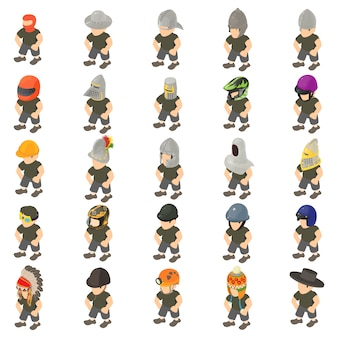 Game character icon set