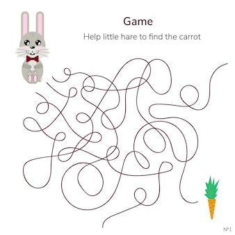 Game for children. maze or labyrinth for kids.