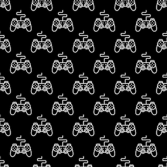 Game controller or gamepad  seamless pattern
