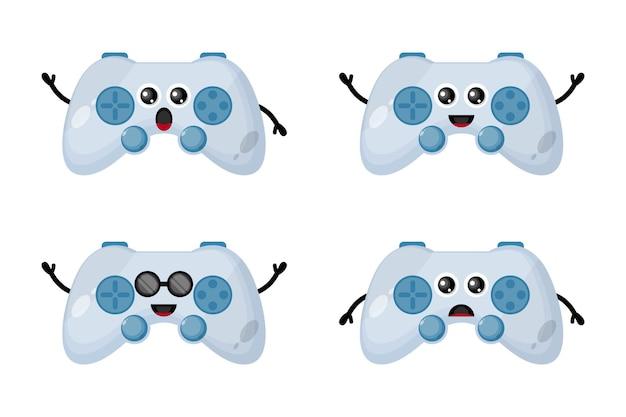 Игровой контроллер дизайн логотипа персонаж милый