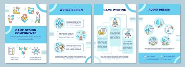 Шаблон брошюры о компонентах игрового дизайна