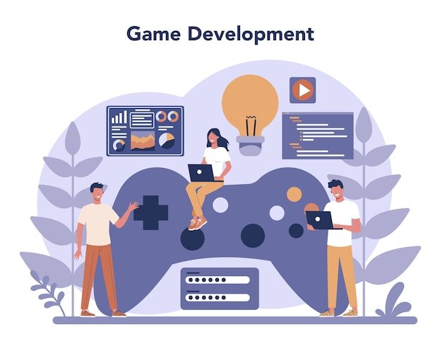 フラットデザインのゲーム開発コンセプト