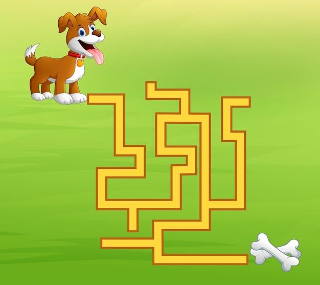 Лабиринт игровой собаки находит путь к костям