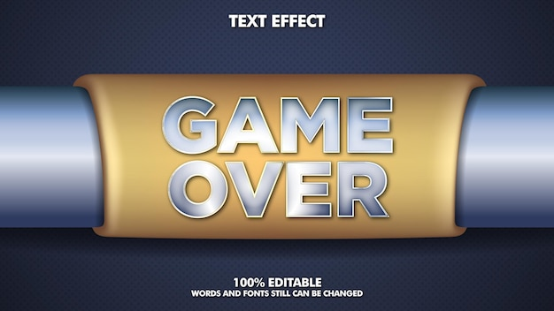 Game over editable text effect
