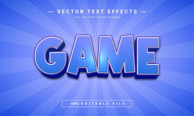Game editable text style