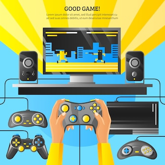 Game gadget illustration