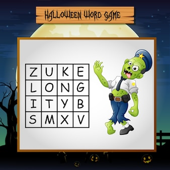 Game halloween find the word of zombie