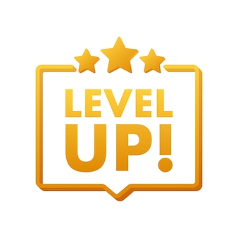 Game icon bonus. level up icon, new level logo. vector illustration.