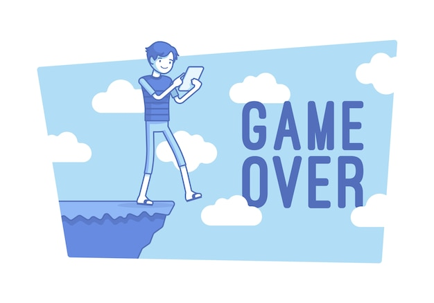 Game over illustration