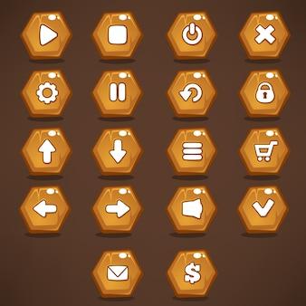 モバイルゲームのゲームインターフェイスボタン