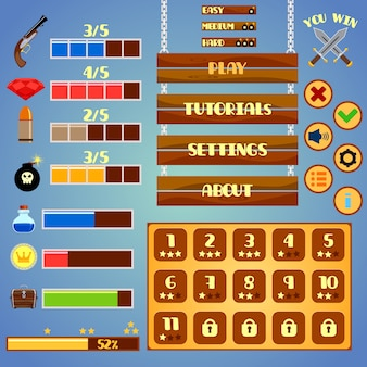 Game interface elements design