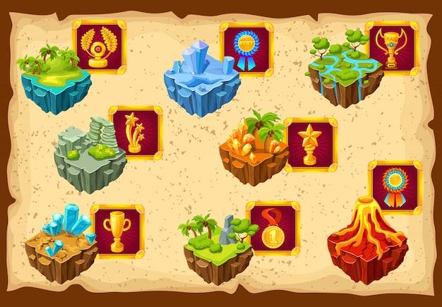 게임 섬 지상 풍경