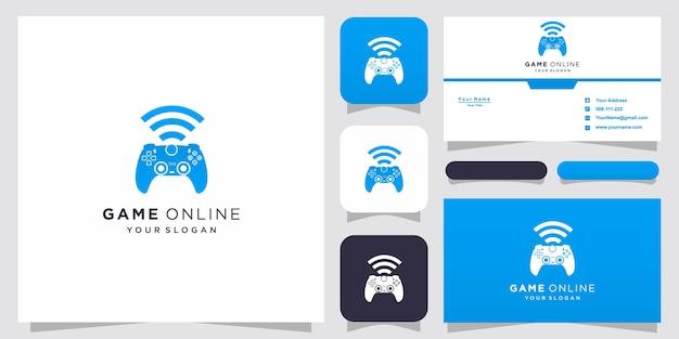 온라인 게임 및 명함 영감을위한 게임 조이스틱 로고 및 wifi