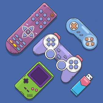 Game joystick and controller set