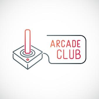 Game joystick icon isolated on white background