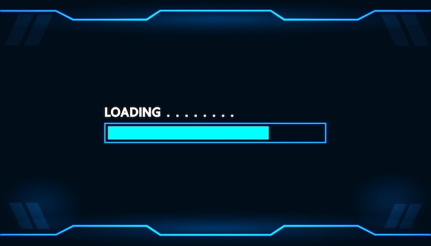 Game loading on monitor technology concept design.