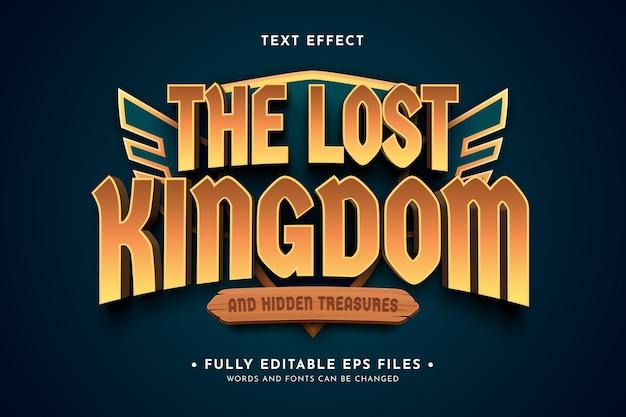 Effetto del testo del logo del gioco