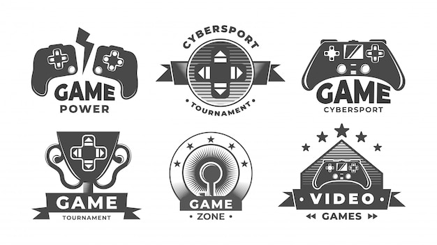 Game logos. cyber sport labels.