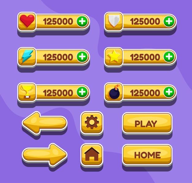 Scena del menu di gioco per lo stato del potere del denaro