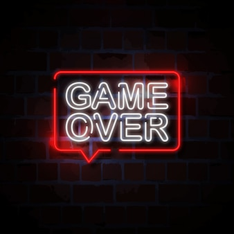 Game over neon sign illustration