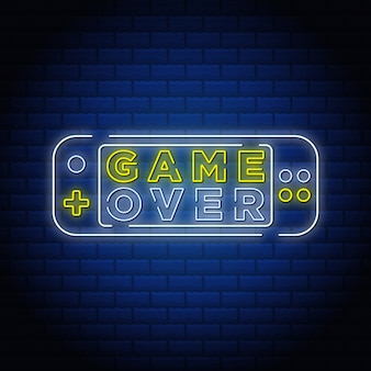 Game over neon sign style text.