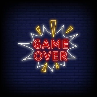 Game over neon signs
